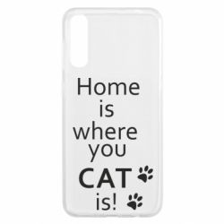 Чохол для Samsung A50 Home is where your Cat is!