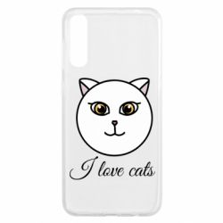 Чохол для Samsung A50 I love cats art