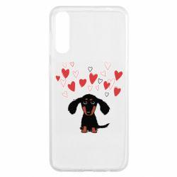 Чохол для Samsung A50 I love dachshund