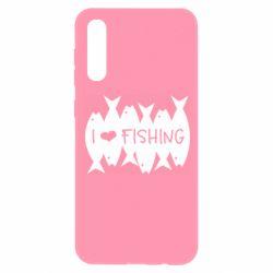Чохол для Samsung A50 I Love Fishing