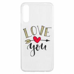 Чохол для Samsung A50 I love you and heart