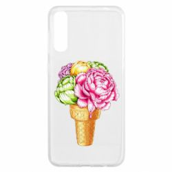Чохол для Samsung A50 Ice cream flowers