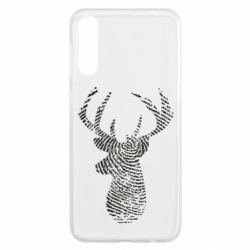 Чохол для Samsung A50 Imprint of human skin in the form of a deer