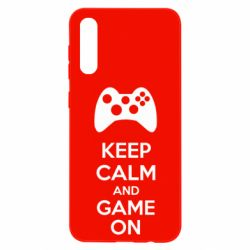 Чехол для Samsung A50 KEEP CALM and GAME ON