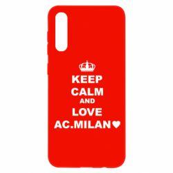 Чохол для Samsung A50 Keep calm and love AC Milan