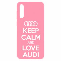 Чехол для Samsung A50 Keep Calm and Love Audi