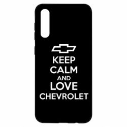 Чохол для Samsung A50 KEEP CALM AND LOVE CHEVROLET