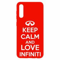 Чехол для Samsung A50 KEEP CALM and LOVE INFINITI