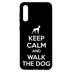 Чохол для Samsung A50 KEEP CALM and WALK THE DOG