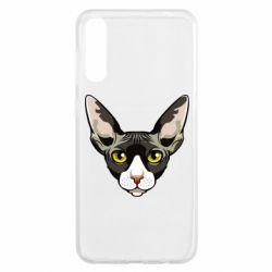 Чохол для Samsung A50 Котя сфінкс жовті очі