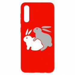 Чохол для Samsung A50 Кролики