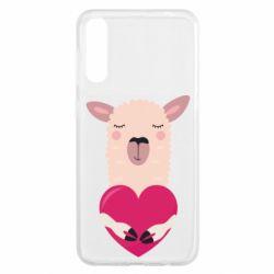 Чохол для Samsung A50 Lama with heart