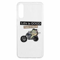 Чохол для Samsung A50 Life is good, take it show