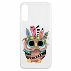 Чохол для Samsung A50 Little owl with feathers