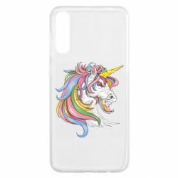 Чохол для Samsung A50 Кінь з кольоровою гривою