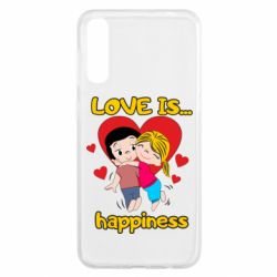Чохол для Samsung A50 love is...happyness