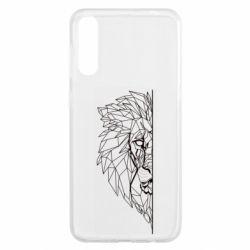 Чохол для Samsung A50 Low poly lion head
