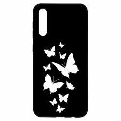 Чохол для Samsung A50 Many butterflies