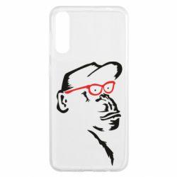 Чохол для Samsung A50 Monkey in red glasses