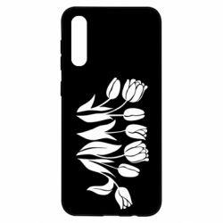 Чохол для Samsung A50 Monochrome tulips