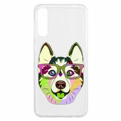 Чохол для Samsung A50 Multi-colored dog with glasses