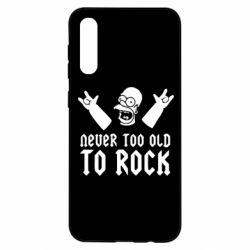 Чехол для Samsung A50 Never old to rock (Gomer)