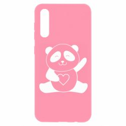 Чохол для Samsung A50 Panda and heart