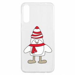Чохол для Samsung A50 Penguin in the hat and scarf
