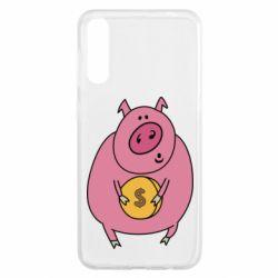 Чохол для Samsung A50 Pig and $