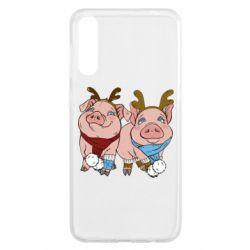 Чохол для Samsung A50 Pigs