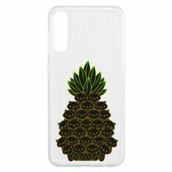 Чохол для Samsung A50 Pineapple cat