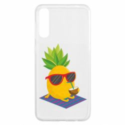 Чохол для Samsung A50 Pineapple with coconut