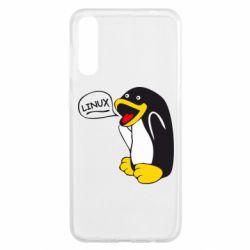 Чехол для Samsung A50 Пингвин Линукс