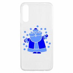 Чохол для Samsung A50 Прикольний дід мороз