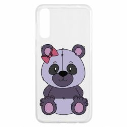 Чохол для Samsung A50 Purple Teddy Bear