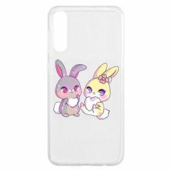 Чохол для Samsung A50 Rabbits In Love