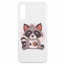 Чохол для Samsung A50 Raccoon with cookies