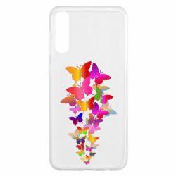 Чохол для Samsung A50 Rainbow butterflies