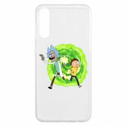 Чохол для Samsung A50 Rick and Morty art