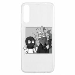 Чехол для Samsung A50 Rick and Morty Bandits