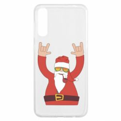 Чохол для Samsung A50 Santa Claus with a tube