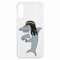Чохол для Samsung A50 Shark Rastaman
