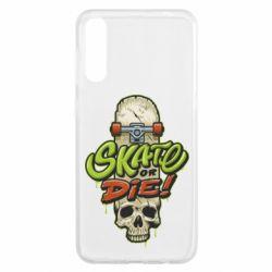 Чохол для Samsung A50 Skate or die skull
