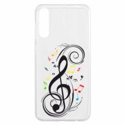 Чехол для Samsung A50 Скрипичный ключ