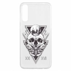 Чохол для Samsung A50 Skull with insect