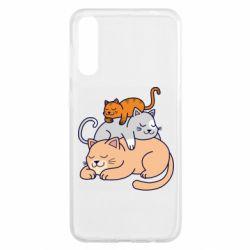 Чохол для Samsung A50 Sleeping cats