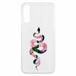 Чохол для Samsung A50 Snake and roses