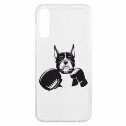 Чохол для Samsung A50 Собака в боксерських рукавичках