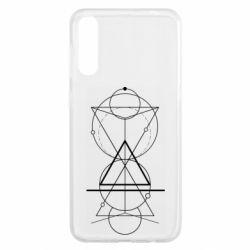 Чохол для Samsung A50 Сomposition of geometric shapes