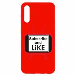 Чохол для Samsung A50 Subscribe and like youtube
